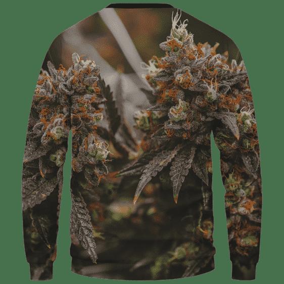 Wonderful Marijuana Kush Nugs All Over Print Sweatshirt - Back Mockup