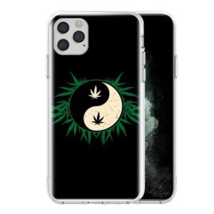 Yin Yang Marijuana Leaves iPhone 12 (Mini, Pro & Pro Max) Case