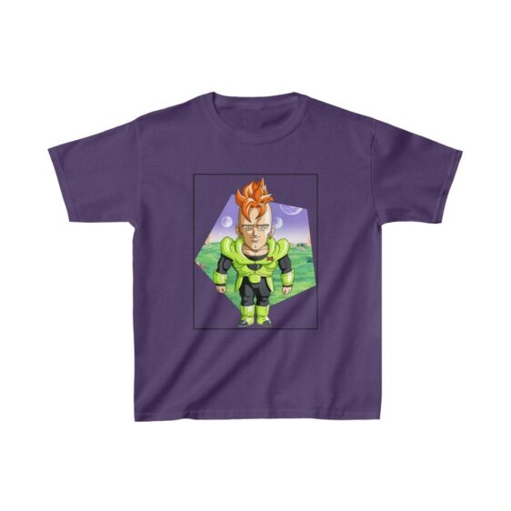 Dragon Ball Z Cute Chibi Android 16 Awesome Kids T-shirt