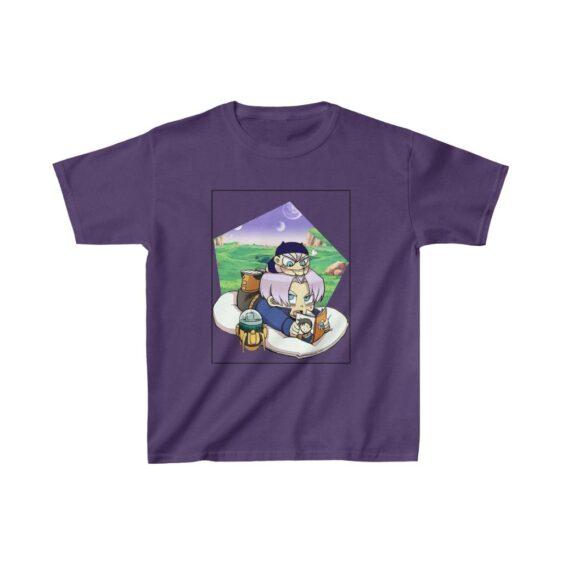 Dragon Ball Z Cute Chibi Trunks Story Telling Kids T-shirt