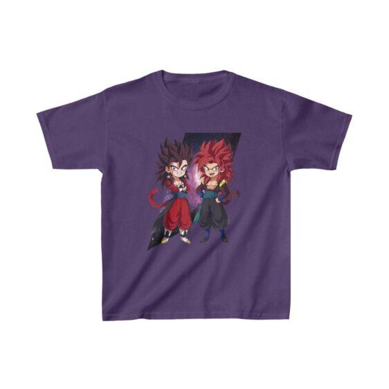 Dragon Ball Z Cute Chibi Vegito and Gogeta Dope Kids T-shirt