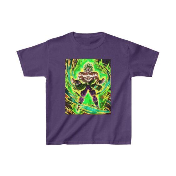 Dragon Ball Z Broly Charged Up Dokkan Art Kids T-shirt