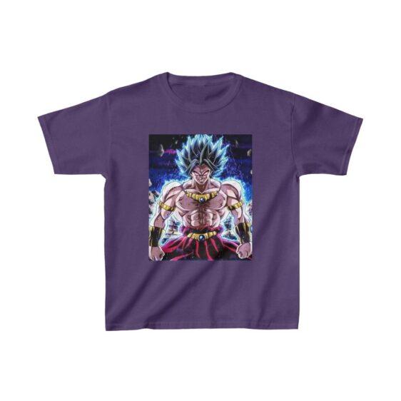 Dragon Ball Super Saiyan Legendary Broly Aura Kids T-shirt
