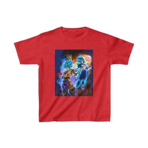 Dragon Ball Super Broly Super Saiyan Blue Goku Vegeta Kids T-shirt