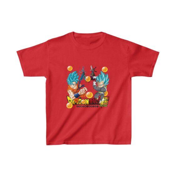 Dragon Ball Super Beerus Whis Goku Vegeta Blue Kids T-shirt