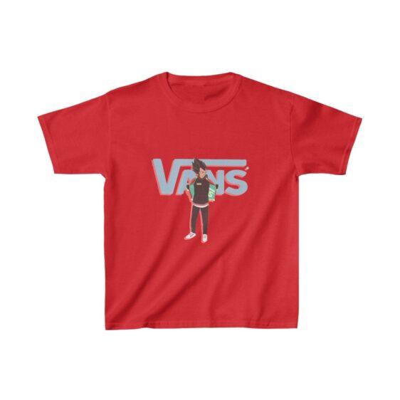 Dragon Ball Super Saiyan Vegeta Vans Inspired Kids T-shirt