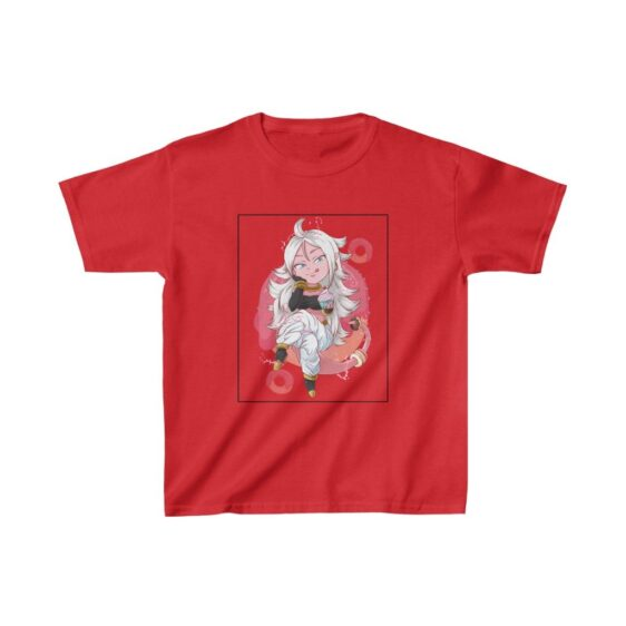 Dragon Ball Z Cute Chibi Android 21 Pink Kids T-shirt
