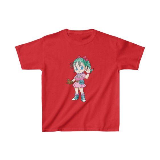 Dragon Ball Z Adorable Chibi Bulma Cute Kids T-shirt