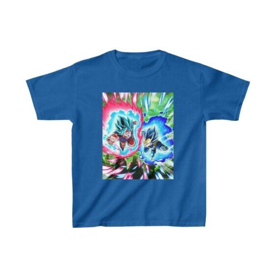 DBZ Goku Vegeta Super Saiyan Blue Cool Kids T-shirt