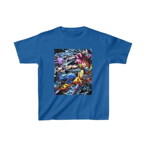 Dragon Ball Z Beerus Vs Goku Red Fierce Battle Kids T-shirt