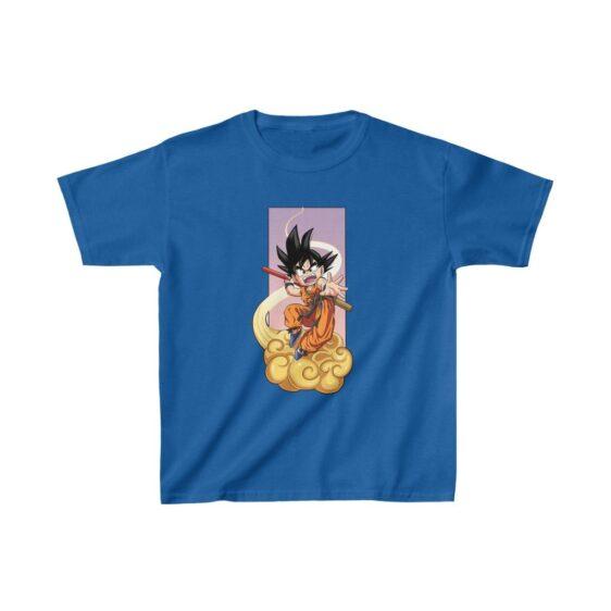 Dragon Ball Kid Goku Flying Nimbus Attack Cool Kids T-shirt
