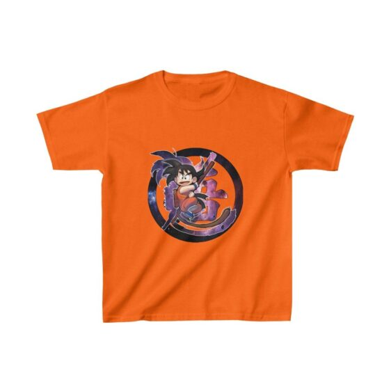 Dragon Ball Z Kid Goku Goofy Style Art Galaxy Kids T-shirt