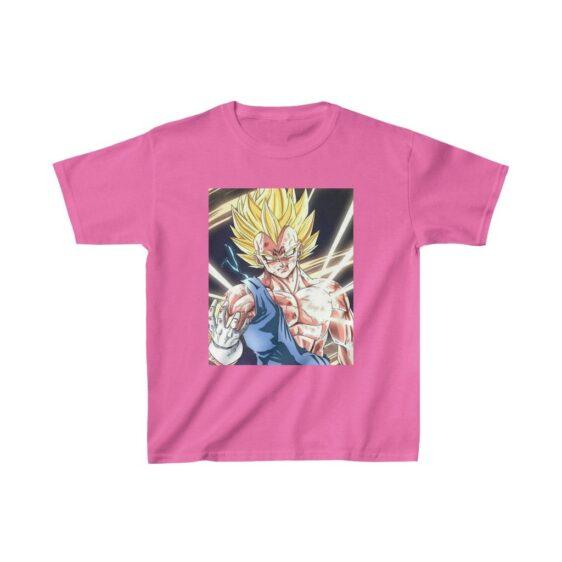 Dragon Ball Z Majin Vegeta Injured Manga Style Kids T-shirt