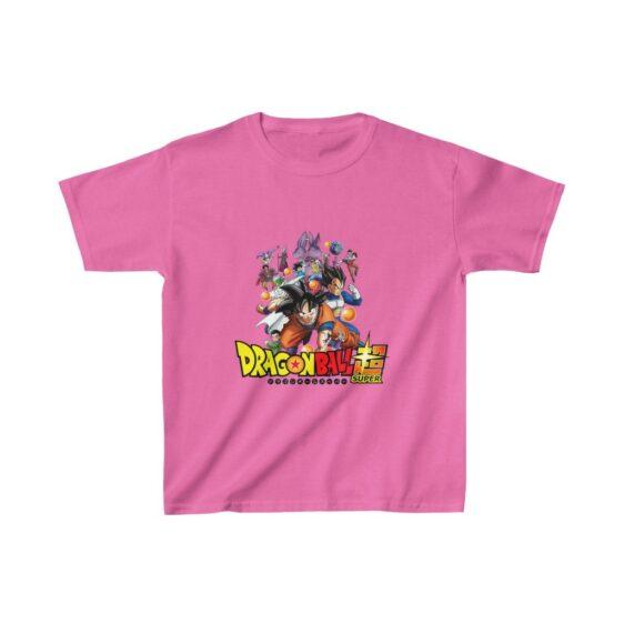 DBZ Super Major Characters Battle of Gods Saga Kids T-shirt