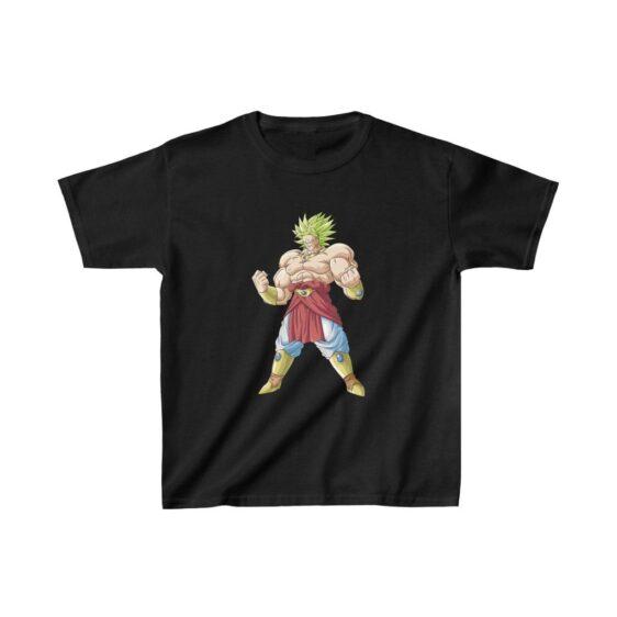 Dragon Ball Cool Broly Legendary Saiyan Vector Kids T-shirt