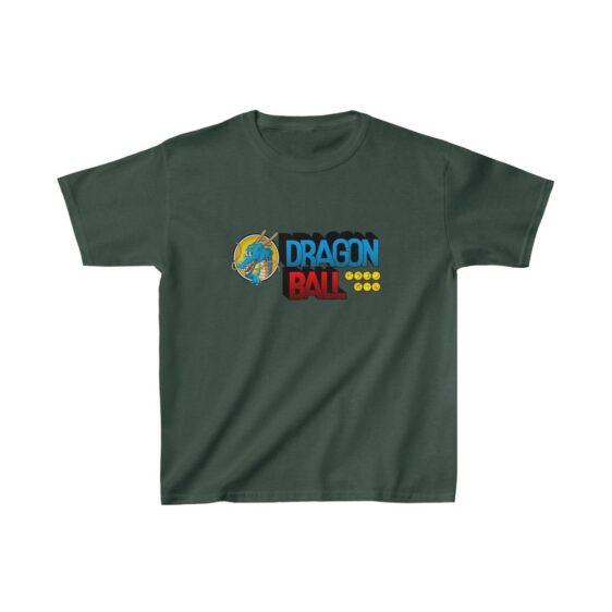 Dragon Ball Anime Classic Logo with Shenron Kids T-shirt