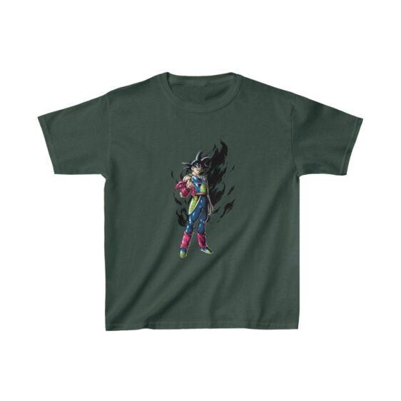 Dragon Ball Z Bardock Fierce Black Aura Awesome Kids T-shirt