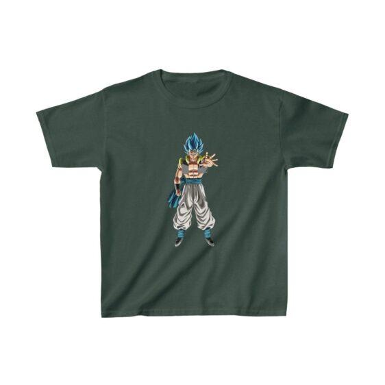 DBZ Super Saiyan Blue Gogeta Striking Pose Kids T-shirt