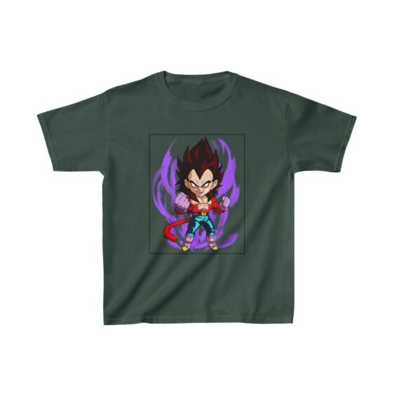 Dragon Ball Z Cute Chibi Super Saiyan 4 Vegeta Kids T-shirt