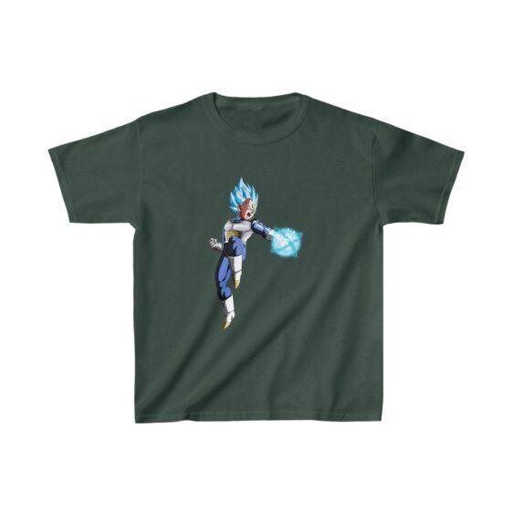 Dragon Ball Z Vegeta Blue Striking Pose Cool Kids T-shirt