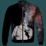 Albert Einstein Smoking Dope Galaxy 420 Marijuana Bomber Jacket