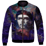 Che Guevara Cannabis Space Galaxy Farm Bomber Jacket
