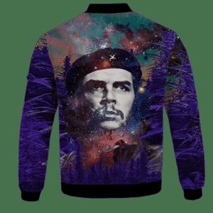 Che Guevara Cannabis Space Galaxy Farm Bomber Jacket - BACK