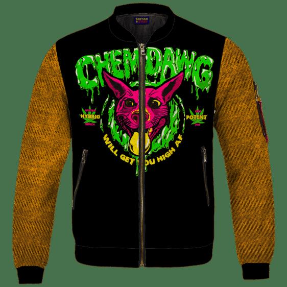 Chemdawg Strain Sativa Hybrid Indica Potent Marijuana Bomber Jacket