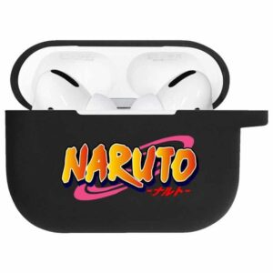 Classic Uzumaki Naruto Logo Amazing Black Airpods Pro Case