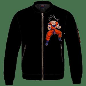 DBZ Goku Spirit Bomb Ganja Weed All Black Bomber Jacket