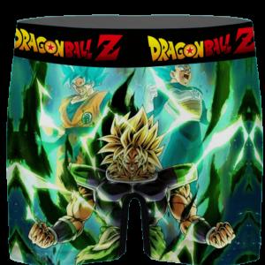 DBZ SSJ Broly Goku Vegeta Fan Favorite Art Green Men's Underwear