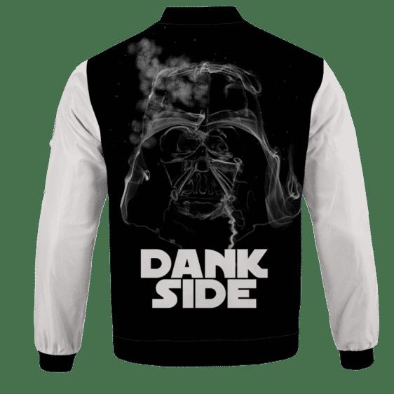 Darth Vader Smoke Dank Side Spoof Parody Bomber Jacket - back