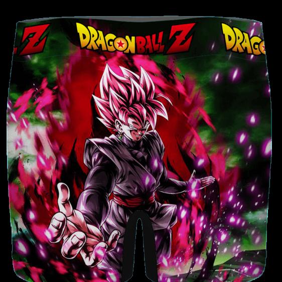 Dragon Ball Goku Black SSJ Rose Card Art Men's Underwear - back