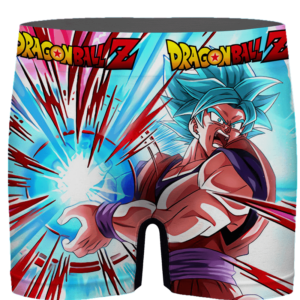 Dragon Ball Goku Blue Kamehameha Awesome Men's Boxer