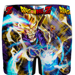 DBZ Super Saiyan Future Trunks Capsule Corp Men's Boxer Brief - back