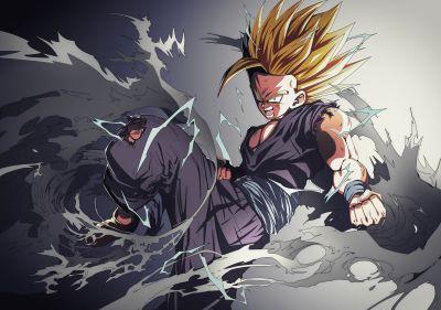 Dragon Ball Z Super Saiyan 2 Enraged Teen Gohan HD Wallpaper