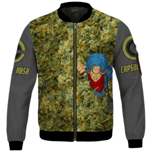 Future Trunks Stuck in a Pool of Marijuana Kush 420 Bomber Jacket