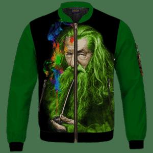 Gandalf Ganjalf The Green Smoking Dope Bomber Jacket
