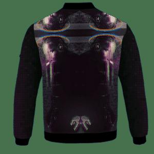 Kendrick Lamar Digital Art Pixel Smoking 420 Marijuan Bomber Jacket Back