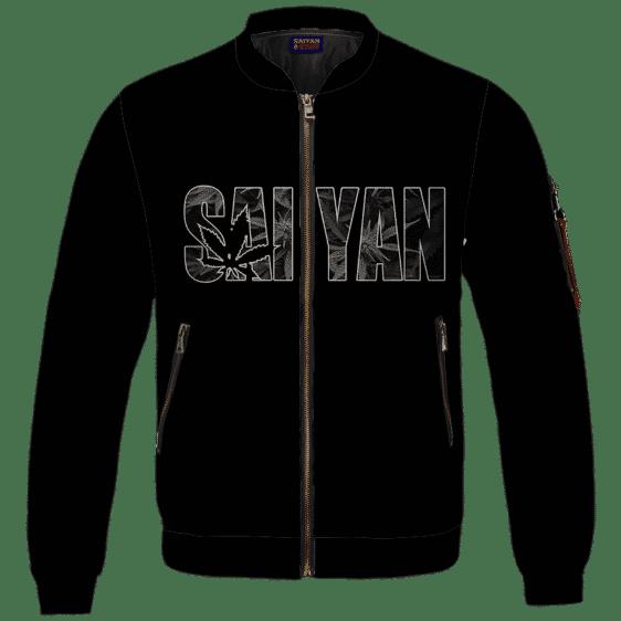 Kush Collective Marijuana Saiyan Logo Black Awesome Bomber Jacket
