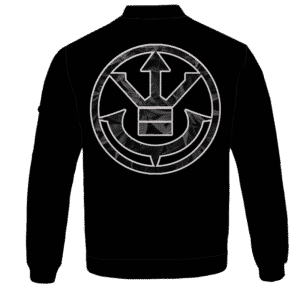 Kush Collective Marijuana Saiyan Logo Black Awesome Bomber Jacket - BACK