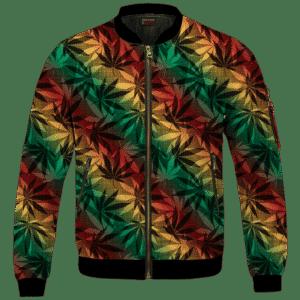 Marijuana 420 Weed Reggae Colors Amazing Bomber Jacket