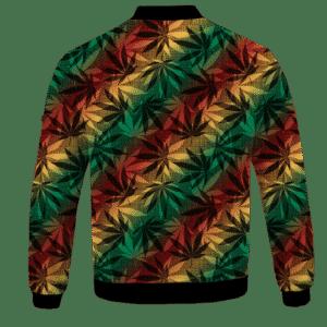 Marijuana 420 Weed Reggae Colors Amazing Bomber Jacket - BACK