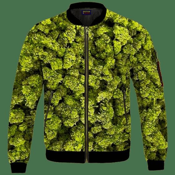 Marijuana Kush Nugs All Over Print Awesome Bomber Jacket