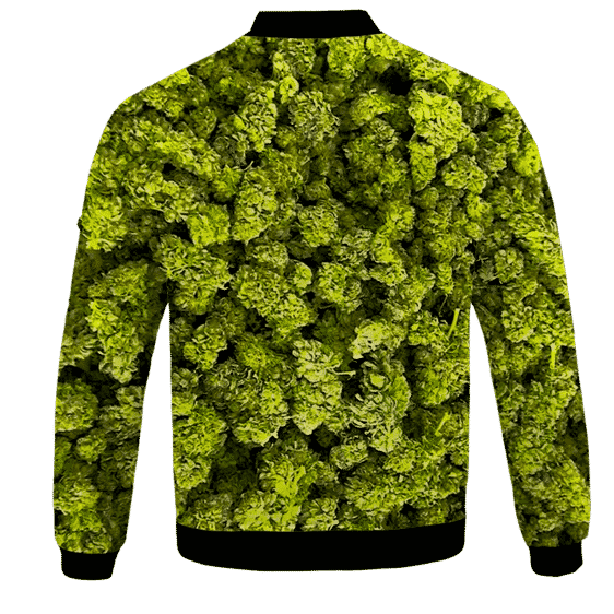 Marijuana Kush Nugs All Over Print Awesome Bomber Jacket - BACK