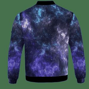 Mona Lisa Collage Smoking Joint Galaxy 420 Trippy Sweatshirt - BACK