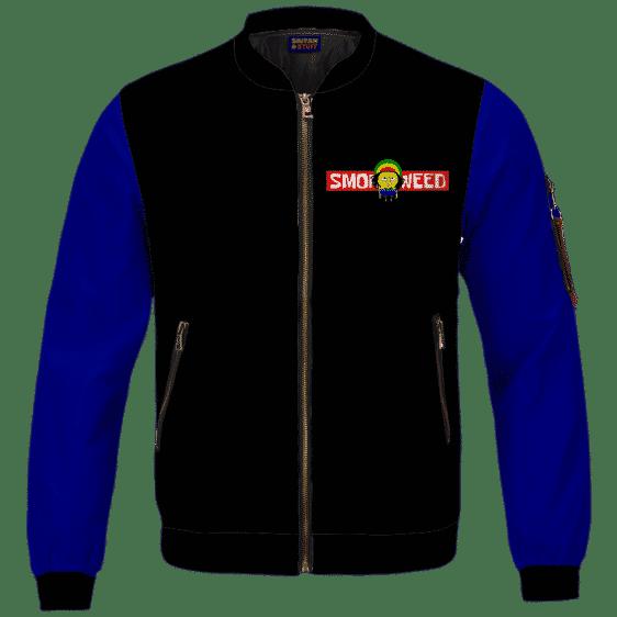 Smoke Weed Reggae Stoner Sponge Bob Marijuana Bomber Jacket