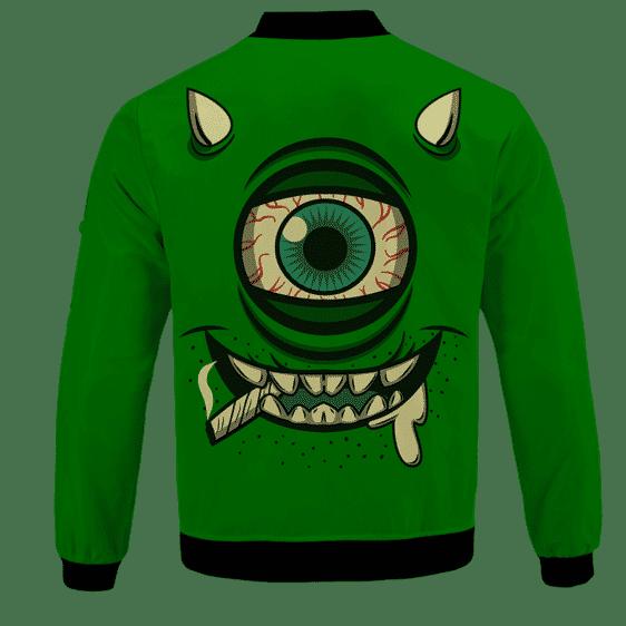 Stoner Mike Monsters Inc Dope Green Bomber Jacket -BACK