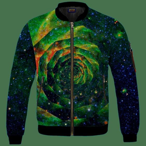 Trippy Galaxy Jimi Hendrix Smoking Joint 420 Bomber Jacket