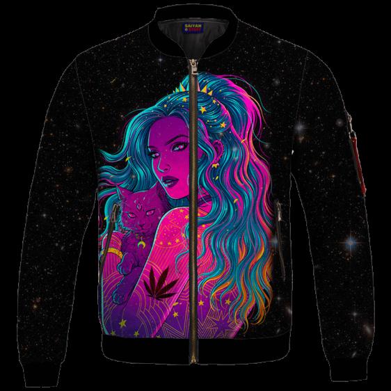 Trippy Kush Princess Galaxy Art Awesome Bomber Jacket